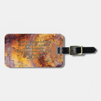 No weapon that is formed will prosper luggage tag