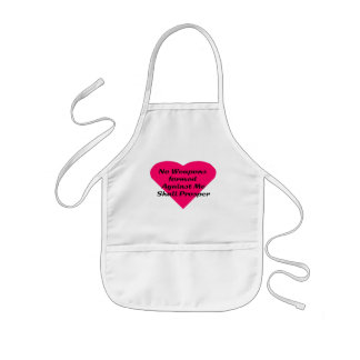 No Weapons formed against me shall prosper Kids Apron