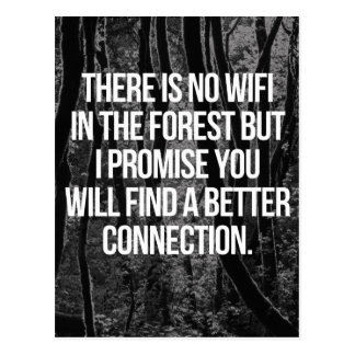 No WiFi In The Forest Postcard