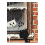 No Words Needed - Valentine Cats by BiHrLe Post Card