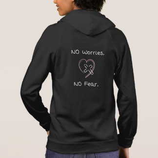 No Worries No Fear Hoodies Christian Women Jesus