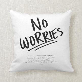 No Worries! Throw Pillow