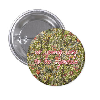 no wrong way to be agender 1 inch round button