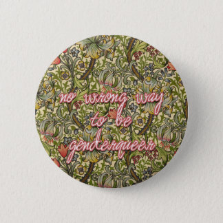 no wrong way to be genderqueer 2 inch round button