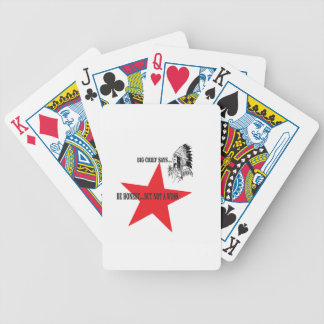 no wuss but honest bicycle playing cards