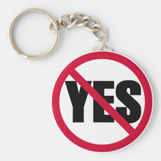 no yes keychain