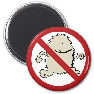 No yeti allowed! magnet