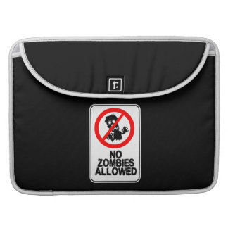 No Zombies Allowed MacBook Pro Sleeves