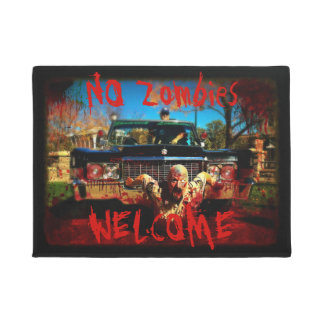 No Zombies Welcome Door Mat