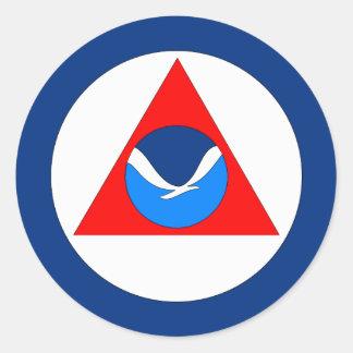 NOAA Flag Classic Round Sticker