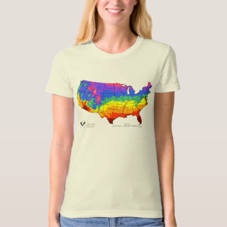 NOAA Mean Daily Average Temperatures T-Shirt