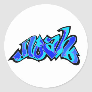 noah 2 classic round sticker