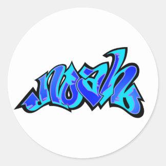 noah 2 round sticker