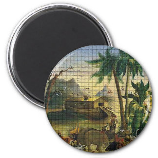 Noah and the Ark 2 Inch Round Magnet