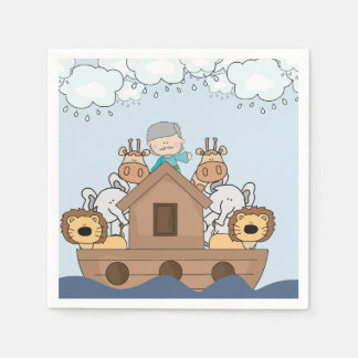 Noah and the Ark Full of Animals Paper Napkin