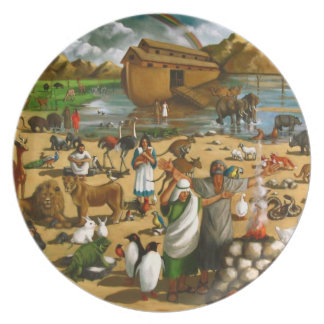 Noah and The Ark: Original Painting: Bible Dinner Plate