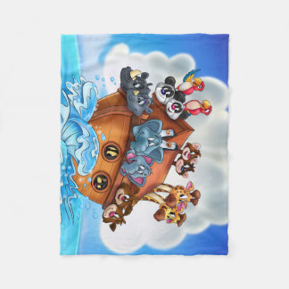 Noah Ark cartoon kids blanket bedroom