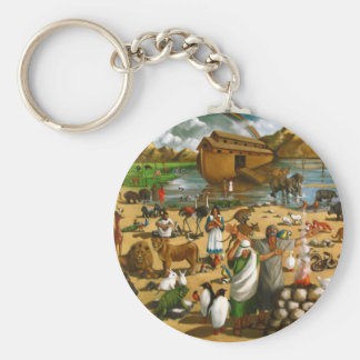 NOAH, ARK: ORIGINAL PAINTING: AFTER FLOOD KEYCHAIN