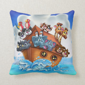 Noah Ark's cartoon pillow