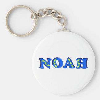 Noah Basic Round Button Keychain