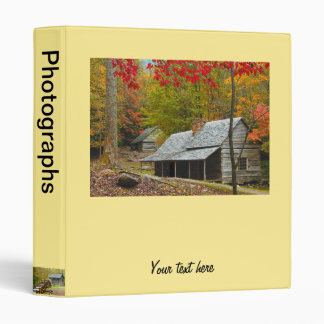 "Noah ""Bud"" Ogle Cabin in the Smokies 3 Ring Binder"