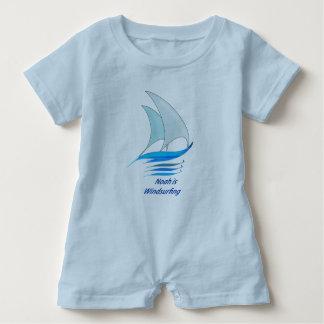 Noah is Windsurfing Baby Romper