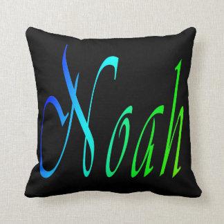 Noah, Name, Logo, Black Throw Cushion