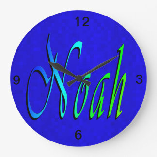Noah, Name, Logo, Large Clock