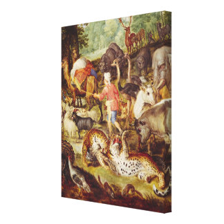 Noah s Ark detail of the right hand side Gallery Wrapped Canvas