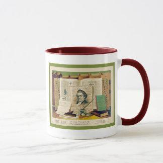 Noah Webster ~ Vintage Fine Art Print Mug