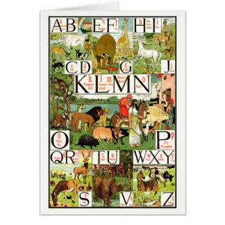 Noah's ABC Alphabet Chart in English Card
