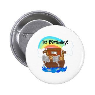 Noah's Ark 1st Birthday 2 Inch Round Button