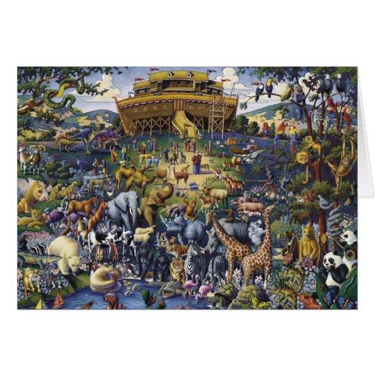 Noahs Ark Animals Card