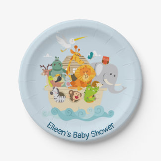 Noah's Ark - animals Paper Plate