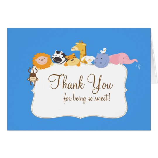 Noah's Ark Animals Thank You Note Card