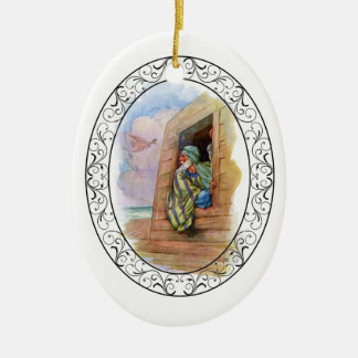 Noah's Ark At Sea Ceramic Ornament