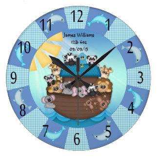 Noahs Ark Babies Round (Large) Wall Clock