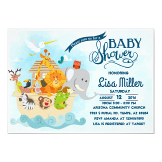 noah's ark - Baby shower Invitation