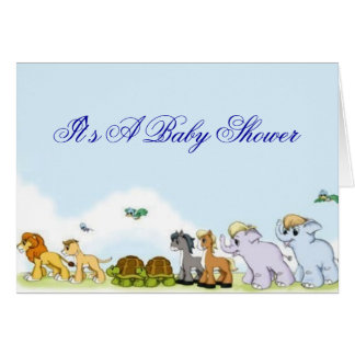 Noah's Ark Baby Shower Invitation Note Card