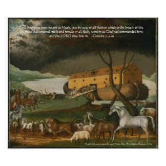 Noah's Ark Bible Scripture Art Print