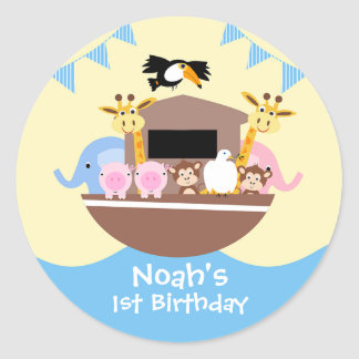 Noah's Ark Birthday Favor Sticker