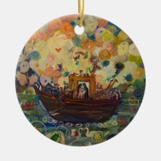 Noah's Ark by Avonelle Kelsey Ceramic Ornament