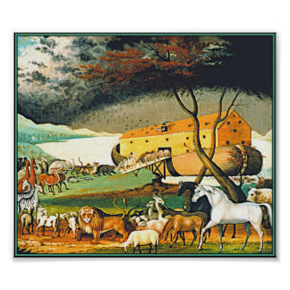 Noah's Ark by Edward Hicks - All the animals! Poster