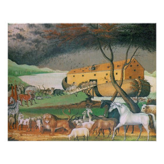 Noah's Ark by Edward Hicks Poster