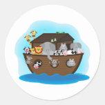 Noah's Ark Classic Round Sticker