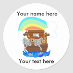 Noah's Ark Customizable Round Sticker