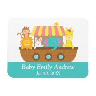 Noah's Ark, Cute Animals, Baby shower Party Favor Magnet