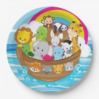 Noahs Ark Cute Animals Toddlers Fun Design 9 Inch Paper Plate