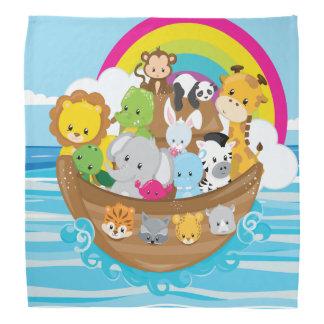 Noahs Ark Cute Animals Toddlers Fun Design Bandana