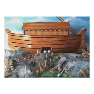 Noahs Ark Diorama Picture Poster